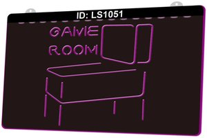 LS1051 Game Room Pinball 3D Engraving LED Light Sign 9 Colors Wholesale Retail Free Design