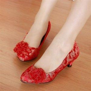 3ivsi Fashion2019 Chaussures mariage Chers Simple Rouge Tradition généreux Concise Femmes Chaussures 7006-16 Fashion2019 Chaussures mariage Cher de Red Tr