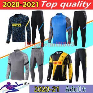 2020 2021 Inter Milan futebol do treinamento terno conjunto 20/21 ALEXIS LUKAKU LAUTARO ERIKSEN ERIKSEN VIDAL BARELLA HAKIMI Inter Milan entre jaqueta de corrida treino