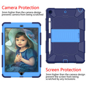 For Samsung Tab A 10.1 2019 T510 With Kickstand and Pencil Holder Design Camera Protection Anti-drop Shockproof Portable Tablet Case Cover