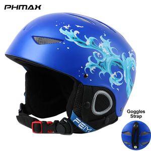 PHMAX Children's Ski Helmet Boys Winter Keep Warm Snowboard Helmets Girls Professional Integrally-Molded Skiing Head Protection
