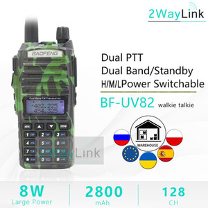 8W BaoFeng UV-82 8Watts Portable Ham Radio 10 KM Baofeng UV 82 8W Walkie Talkie 10 km UV82 Camouflage uv-9r plus two way Radio