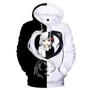danganronpa Merch hoodie monokuma cosplay Costume black and white hoodies anime sweatshirts kawaii sweatshirt kids 3d hoodies