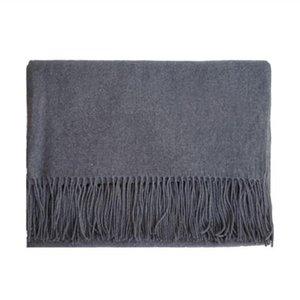 100% кашемировые женщины и мужчины шарф зимняя теплая мода шарфы мужская шея теплый черный военно-морской флот серый шарф для женщины новая равный цвет l женская шаль