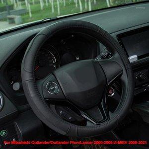 Cow Leather Car Steering Wheel Cover Wrap For Mitsubishi Outlander Outlander Phev Lancer 2000 -2007 2008 2009 I i-MiEV 2006-20211