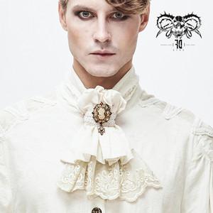 Devil Fashion Men's Gothic Shirt Dress Neckties Gorgeous Retro Novelty Cotton Formal Banquet Party Ties