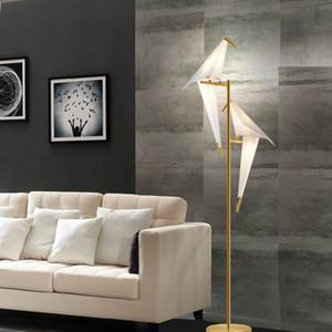 Art Deco Iron LED Origami Bird Floor Lamp Modern Bedroom Living Room Reading Floor Lamp Lighting Fixture