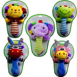 Rattle Stick Massaggiagengive disegno animale farcito Campanella Bibi BB suono bambino infantile Giocattoli YH1543