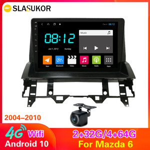 4G LTE 64 ROM DSP Android 10 pour Mazda 6 2003 2004 2004 2006 2006 2006 2008 2008 Multimédia Lecteur DVD DVD Navigation GPS Radio Wifi BT