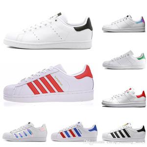Original Superstar Smith hommes femmes chaussures de sport vert noir blanc bleu rouge rose argent mens stan chaussures de chaussures en cuir