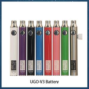 Auténtico Ugo V III V3 650 900mAh EVOD EGO EGO 510 BATERÍA 8 COLORES MICRO USB CARGA PASSTROUSA VAPE BATERÍAS VS SPINTER 3S BATERÍA DE HILO