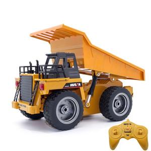 RC Alloy engineering truck Super power RC tipper Dump RC trucks Beach toys Children's adult toys Boys toys birthday Xmas gifts 201104