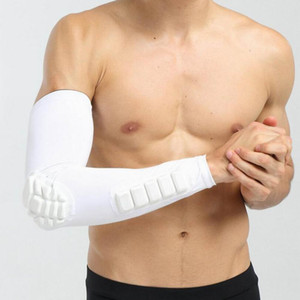 White Elbow Band Guard Arm Adjustable Pain Relief Support Wrap Brace Protector Forearm Bandage for Tennis Golf Strap Joint