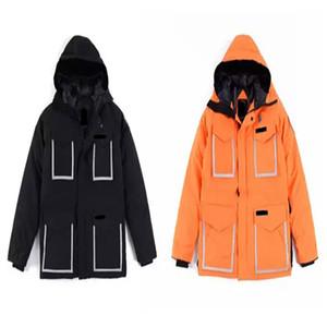 TOP Arancione Cappotti Designer USA delle donne degli uomini cappotti Giallo Nero parka Sport Brands Giù formato XS-XXL