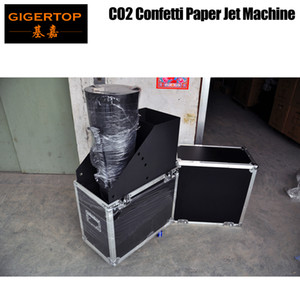 TIPTOP TP-T187 China Co2 Confetti Paper Jet Machine Manual Hand Control Flightcase Pack with Wheels Mini Size High Jet 12-16m Roadcase