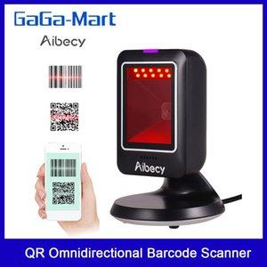 USB Aibecy MP6300Y 1D / 2D / QR Всенаправленный сканер штрих-кода Проводная штрихкодов CMOS Hand-Free QR Code Scanner для розничной торговли