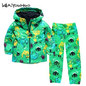 Spring Baby Girls Clothes Waterproof Raincoat Coats Sports Jackets+Pants Windbreaker Kids Boys Outerwear Children Clothing 201017