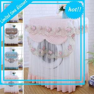 60 * 60 * 85 cm Dekorasyon Kenar Toz Kap Koruyucu Çiçekler Tarzı Ev Dekor Çamaşır Makinesi Kapak 4 Renkler Yıkanabilir