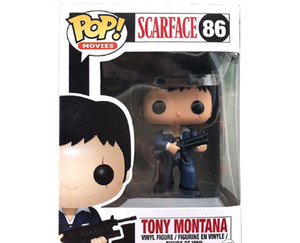 New Hot sale Funko pop SCARFACE 86# TONY MONTANA PVC Collection figure Toys Kids birthday Gifts