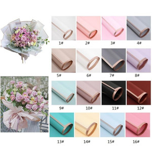 Valentine's Day Flower Wrapped Paper 20pcs Pack 60*60CM Wedding Valentine Day Waterproof Bronzing Flower Gift Wrapping Paper