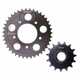 Für CB-1 Motorrad Front Rear Sprocket geartransmission (525) 15T / 39T Schwarz Nept #