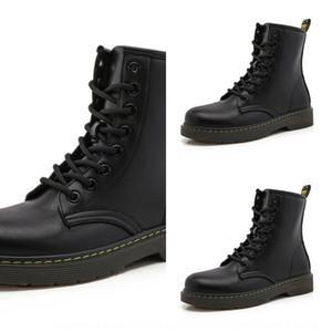 fQOWC Lovers Lovers solesPlush Stiefel mit dicken Sohlen Frauen Art und Weise in kühlen britischen Stil Herbst Winter 2020 neuen schwarzen Plüsch-Stiefel mit thi