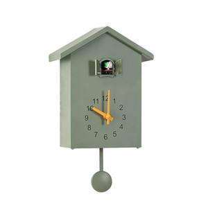 الشمال ساعة الحائط الخشب الوقواق ساعة الطيور الحديثة غرفة المعيشة البندول الساعات جدار ديكور المنزل صامت نوم هزة هدية FZ999 LJ201208