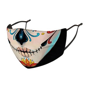 Halloween face mask  face masks Christmas skull PM2.5 dustproof 3D dimensional mask can be washed and reused mask HHB2304