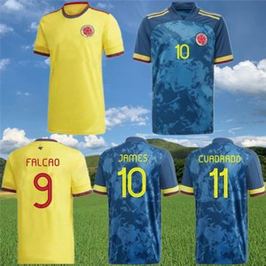 Jersey de football de Football national de Colombie 2020 21 Sánchez Zapata Rodríguez Mina Morelos Falcao Football Shirt