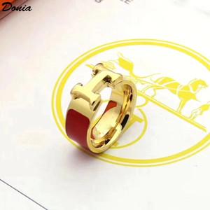 Dona Jewelry Hot Ring Fashion Suit Suit Smalto Anello in acciaio in acciaio europeo e americano Anelli da uomo e donna creativi realizzati a mano