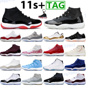 Bred jumpman scarpe da basket 11 alta mens 11s allenatori sportivi 25 ° anniversario Concord 45 ereditiera notte Maroon Cool Grey basse scarpe da ginnastica di ciliegio