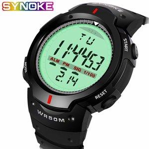 Synoke 30m étanche Led électronique numérique Montre Homme Sport Outdoor Hommes Montres Chronomètre Relojes Hombre