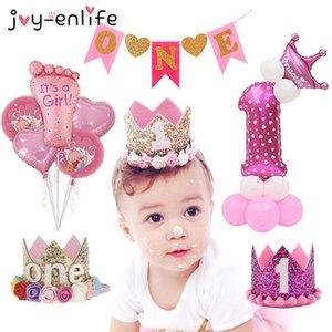JOY-Enlife Anno decorazioni Kid Crown Princess primo partito prima Boy Girl 1 Compleanno Baby Shower