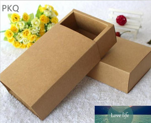 10pcs lot 10 sizes Kraft Paper Drawer Boxes Wedding Party Cookies Candy Gift Box for Handmade Soap Craft Jewel Packaging