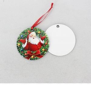 Sublimation Blanks Christmas Ornament Wooden Christmas Tree Ornament Hanging Pendant Heat Press Transfer Printing Xmas Decoration SN4811