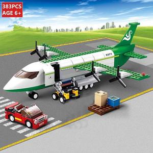 Mini formato City Airplane Building Blocks Set Air Bus Airplane Blocks Modello Aerei Aerei Figure fai da te Mattoni Giocattoli per bambini LJ200928