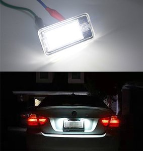 2Pcs License Number Plate Light Lamp for Audi A3 S3 A4 RS4 S4 B6 B7 A6 C6 S6 Q7