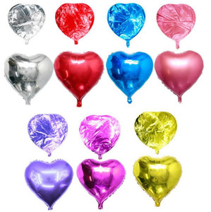 Heart Love Balloons Air Aluminum Foil Balloon Birthday Party Helium Balloons Wedding Festival Decorations Valentines Day Supplies DW6354