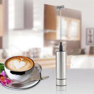 Leche Bebida Café batidor batidor de batido Huevo eléctrico Beater Frother Foamer Fancy Fancy Coffee Fother Milk Blender Doble Head1