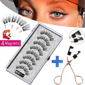 MB 8 pz 4 magneti ciglia magnetiche e ciglia naturale visone ciglia 3d magnetico ciglia magnetiche trucco bellezza occhio ciglia strumenti di estensione nuovi