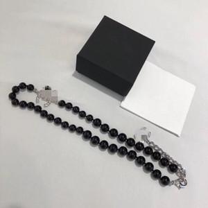 marca de moda Hight versão designer de colar de pérolas negras para as mulheres amantes de casamento de luxo jóias presente para a noiva com caixa