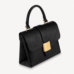 Bolso negro Color Mujer de lujo Versátil con diseño 5 PU Bolsos de PU COLORES INTERIORES DEJBR CUBIERTA DESIGNADOR DE LUBITOS COMPARTURA DE LUBITOS BLOQUEO WONB