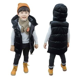BOTEZAI enfants garçons gilet d'hiver capuche veste manteaux pour les filles bébé gilet enfants manches hiver veste coupe-vent Y200901