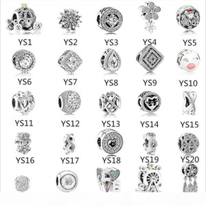 925 Sterling Silver Charms for Pandora Bracelet Mix Love Letter Pumpkin Car Dreamcatcher DIY Beads Jewelry Wholesale