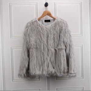 manteau de fourrure femme imitation laine col rond Court Maomao imitation marée fourrure femme manches longues2020 nouveau style pour hiver1