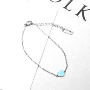 High Quality Heart Bracelets Stainless Steel Charm Bracelets for Women Friendship Braclet Hand Girls Jewelry Best Friend Gift