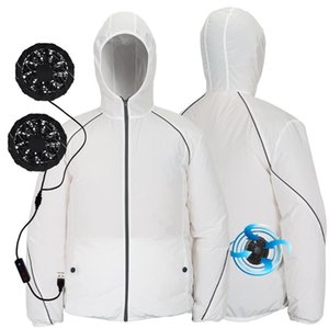 KANCOOLD tactical jacket Summer Cooling Fan Clothes 3-speed USB Air Conditioning Heatstroke Outdoor Working Reflective Coat Jun1