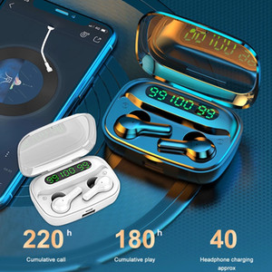 R3 Wireless Earbuds Wireless LED TWS with Microphone Earphones Waterproof Noise Cancel Headset Earbuds With 2000mAh Power Bank