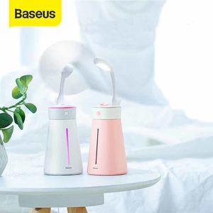 Baseus Humidifier For Office Home Ultrasonic Humidifer with LED Night light Fan Mist Maker Smart Portable Humidificador 1012