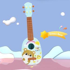 أزياء آلات موسيقية هدية البسيطة محاكاة غيتار 4 سلسلة الممارسات لعبة اطفال الموسيقى القيثارة طفل هدايا